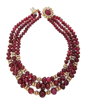 Sanguine Bead Necklace