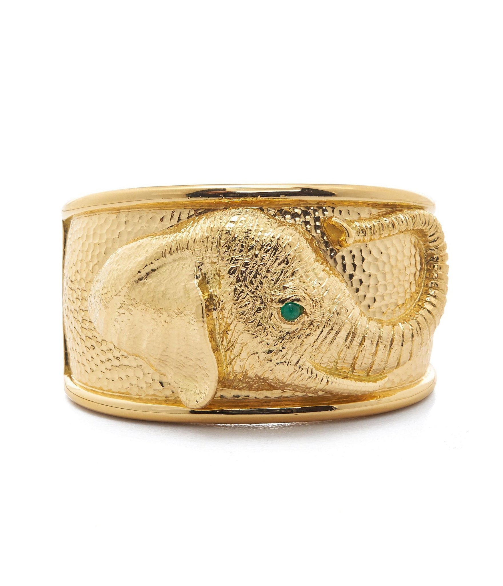 Repousse Elephant Cuff
