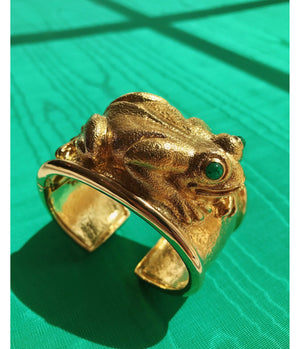 Repousse Frog Cuff