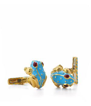 Small Frog Cuff Links