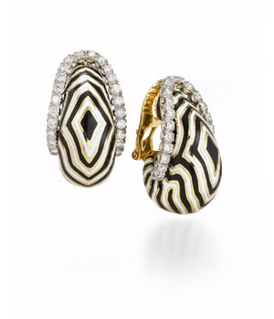 The Vreeland Zebra Earrings