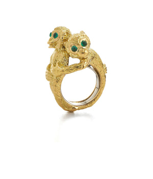 Hugging Monkeys Ring