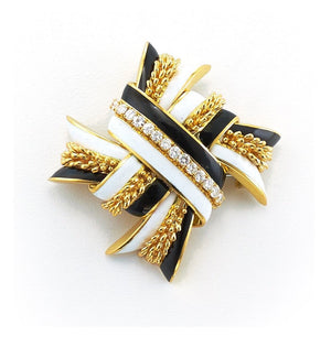 Garland Ribbon Brooch