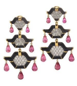 Triple Pagoda Earrings