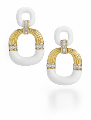 David Webb - Manhattan Minimalism - Radiator Hoop Earrings