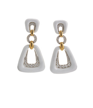 David Webb - Manhattan Minimalism - Dinner Bell Earrings