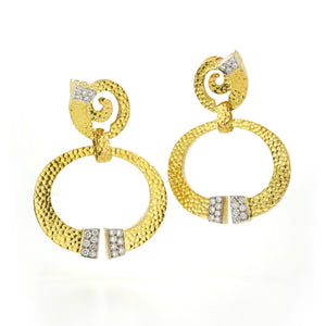 Diamond Hoop Nail Earrings