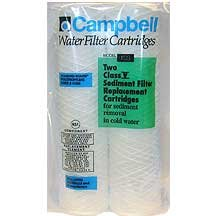 Campbell 1SS-12 ANNUAL Pack Water Filters 5 Micron Sediment Cartridges