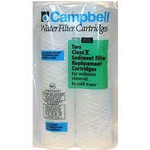 Campbell 1SS-12 Water Filters 5 Micron Sediment Cartridges (2 Pack)