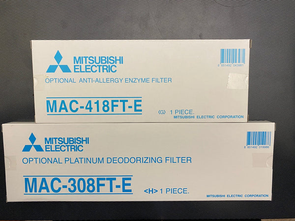 Mitsubishi Electric MAC-308FT-E & MAC-418FT-E Mini Split Ductless Filter Bundle