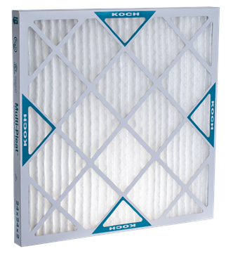 Koch Air Filter 17 x 25 x 1 MERV 8 Pleated Air Filter 12 Pack