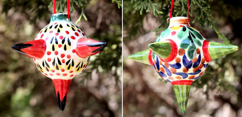 mexican ornament pinata decorative folk art hand painted mexico by gorky