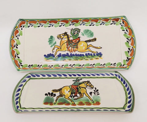 mexican trays ceramic hand craft made in mexico by gorky workshop