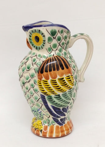 mexican-pottery-folk-art-owl-jar-hand-paited-table-top-mexico