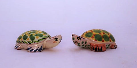 mexican salt and pepper shaker folk art hand painted by gorky workshop