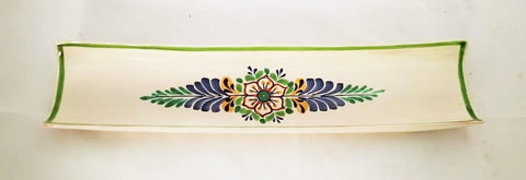mexican-ceramic-canoa-tray-pottery-hand-made-mexico-snack-tableware-flower-motive