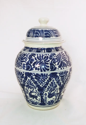 Mexican Decorative Vase folk art hand made in mexico by gorky gonzalez