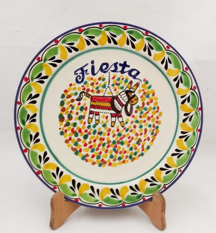 mexican-plates-ceramic-pottery-handcrafts-hand-made-mexico-party-motives-colorfull