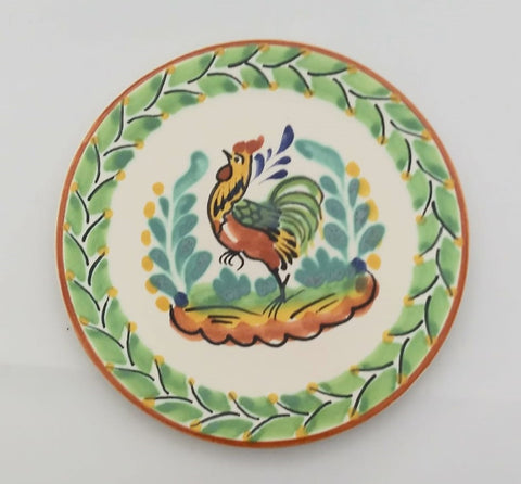 mexican plates bread plate hand made mexico rooster collection