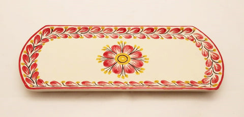 mexican-ceramic-tray-tableware-red-flower-collection-hand-painted-hand-crafts-mexico