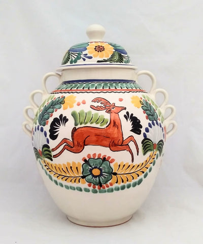 mexican decorative vases hand thrown folk art hand painted gorky wokshop mexico