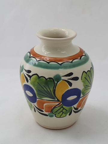mexican ceramics pottery decorative flower vase majolica hand craft