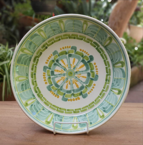 mexican plates hand wheel guanajuato mexico flower pattern