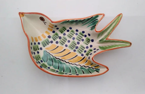 mexican snack dish swallow shape folk art mexico