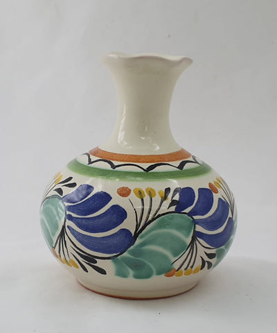 mexican flower vase folk art hand made in mexico by gorky gonzalez workshop