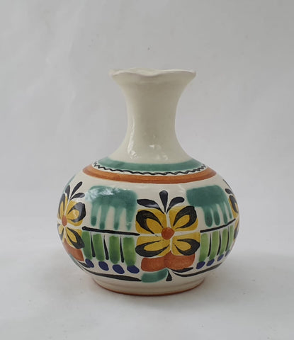 mexican decorative flower vase folk art hand made by gorky gonzalez workshop