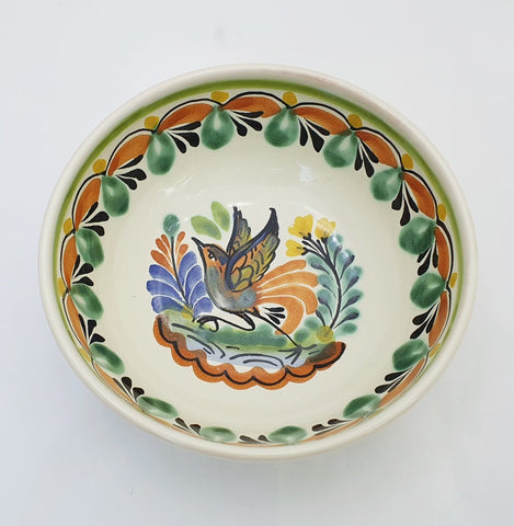 mexican bowls pottery hand made in mexico bird motive