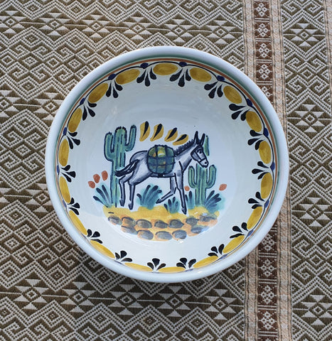190704-32-03 mexican bowl ceral soup folk art hand painted thrown majolica