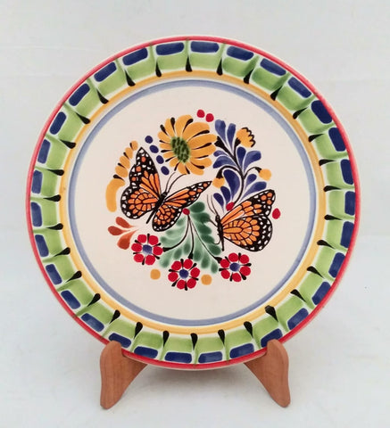mexican plates folk art hand made butterfly motives amazon mexico