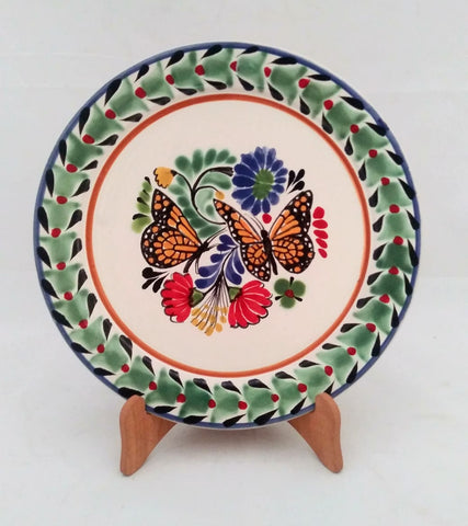 mexican plates hand made butterfly motives