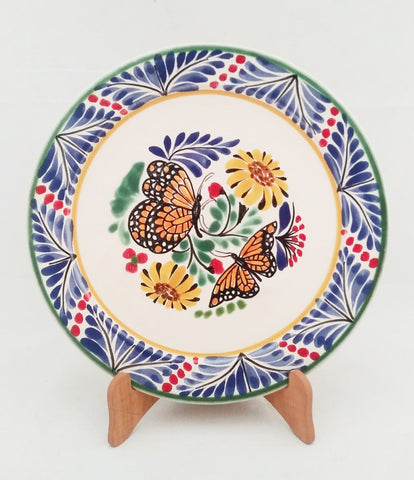 mexican plates hand painted pottery mexico butterfly motives