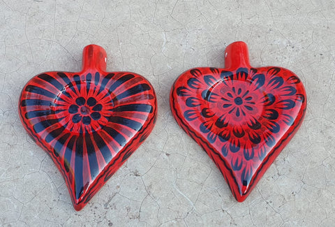 mexican-pottery-heart-ornament-hand-craft