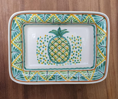 mexican plates folk art hand painted pineapple bowl gto mexico
