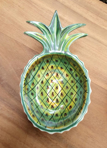 mexican plates folk art hand painted pineapple bowl mexico