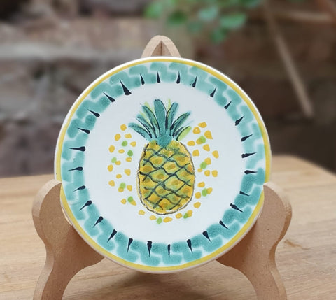mexican-plates-folk-art-pineapple-hand-made-mexico
