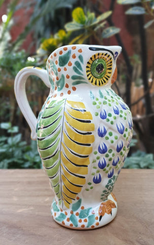 mexican-pitcher-folk-art-handcraft-owl-pitcher-gorky-workshop-guanajuato