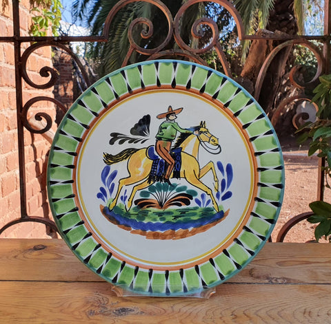 mexican plates hand painted folk art majolica cowboy motive dinner plate gorky ideas.jpg.jpg