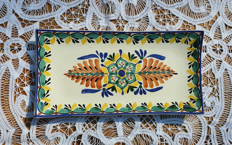 200430-02-01 mexican tray flower folk art hand painted amazon mexico gorky workshop