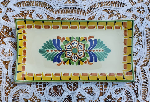 mexican tray flower folk art hand painted amazon mexico gorky workshop