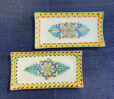 mexican trays majolica folk art ceramic plates gorky