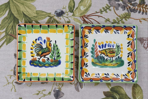mexican plates tapas plates table top folk art gorky