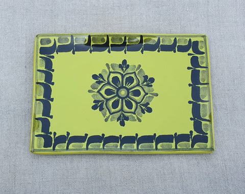 mexican plates trays contemporary flower pattern table top