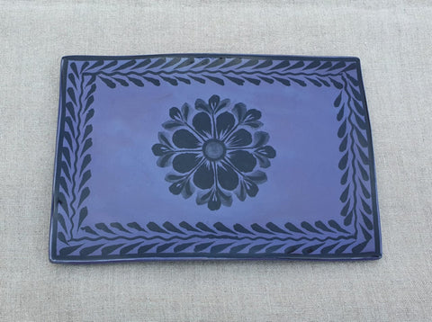 mexican trays contemporary line folk art hand painted gorky workshop