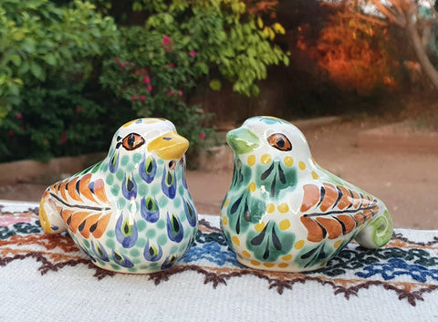 mexican dove salt and pepper decorative pottery table decor