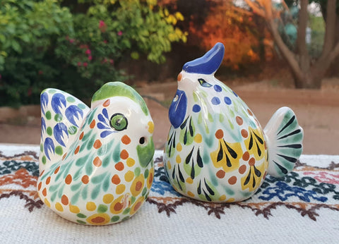 mexican rooster salt and pepper decorative pottery table decor