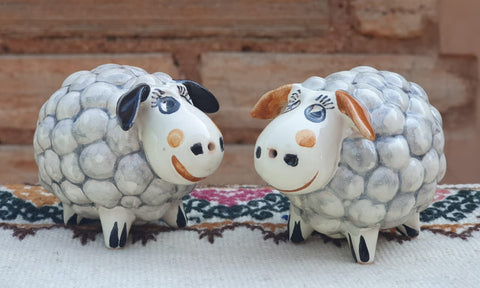 mexican sheep salt and pepper decorative pottery table decor